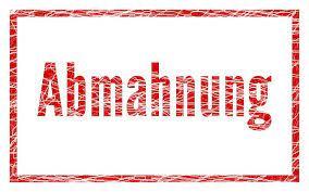 Abmahnung - Rechtsanwalt Rahn - Dresden